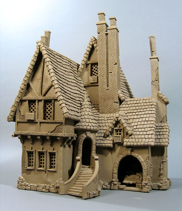 Tudor House - Buildings - Gallery - John Brickels, Architectural Sculpture and Claymobiles, Essex Jct, Vermont