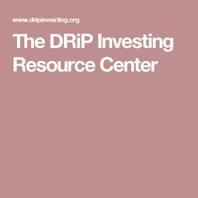 The DRiP Investing Resource Center