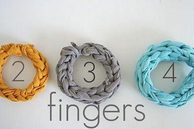 Jersey Bracelet tutorial by V & Co.  http://www.vanessachristenson.com/2011/03/v-and-co-how-to-jersey-knit-bracelet.html