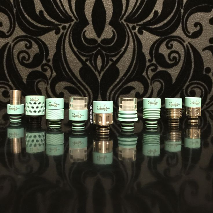 Tiffany Blue Drip Tips by 2Puffs in different style! Make sure to grab these limited edition colors by 2 Puffs