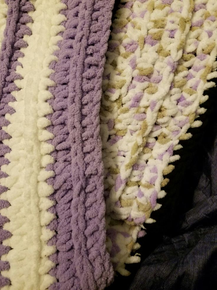 Chunky infinity scarves using crochet pattern from the snugglery   Yarn - Bernat Blanket