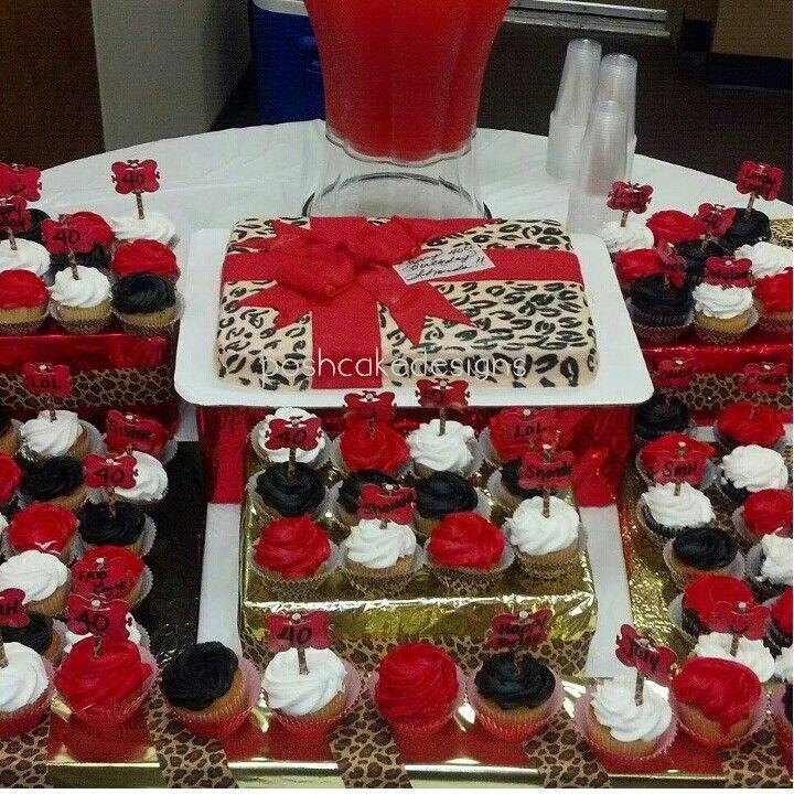 Cheetah birthday present cake. Cheetah decorations. Cheetah party. #poshcakedesigns #birmingham al