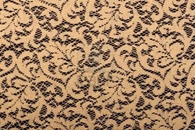 lace on black background Stock Photo