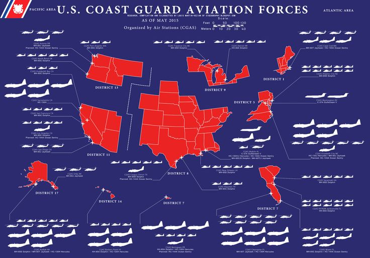 If you want to quantify the fleet size and see all the different bases where the U.S. Coast Guard's aircraft operate from, this graphic is your awesome go-to guide.