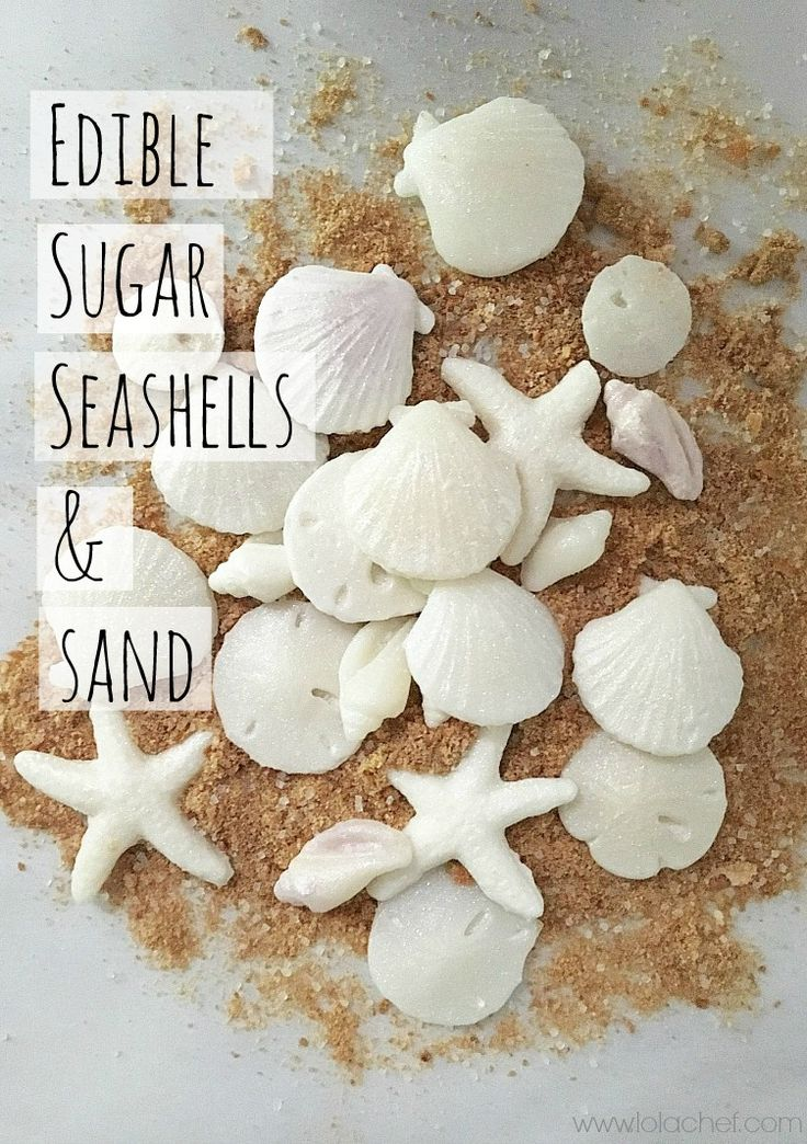 Edible sugar seashells | LolaChef An edible candy seashell that looks realisitc and tastes great.