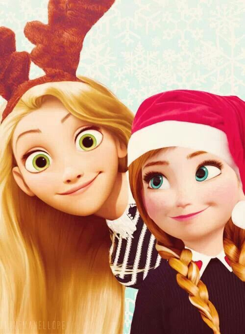 """Hey guys! It's me and Punzie! Wishing you a """"Frozen"""" Christmas, compliments of my big sis Elsa!"""