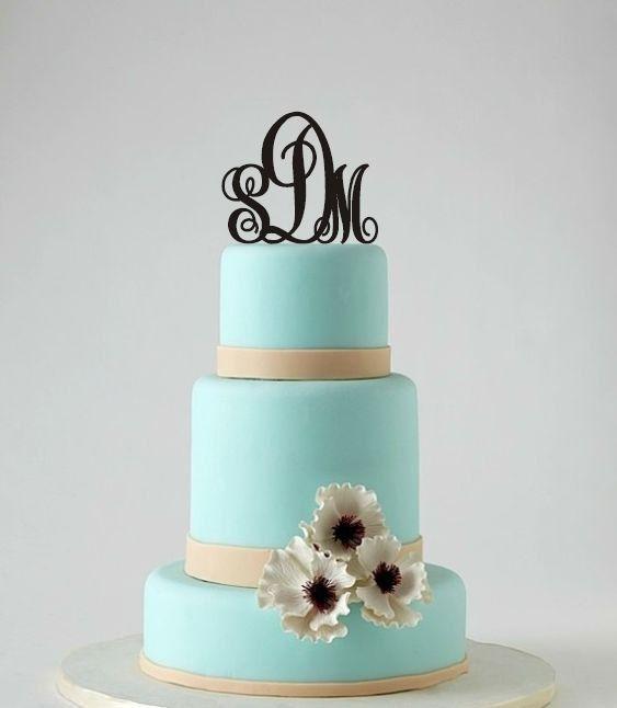 Cake Topper  monogramme mariage Topper  par BestCakeTopperEver, $16.00