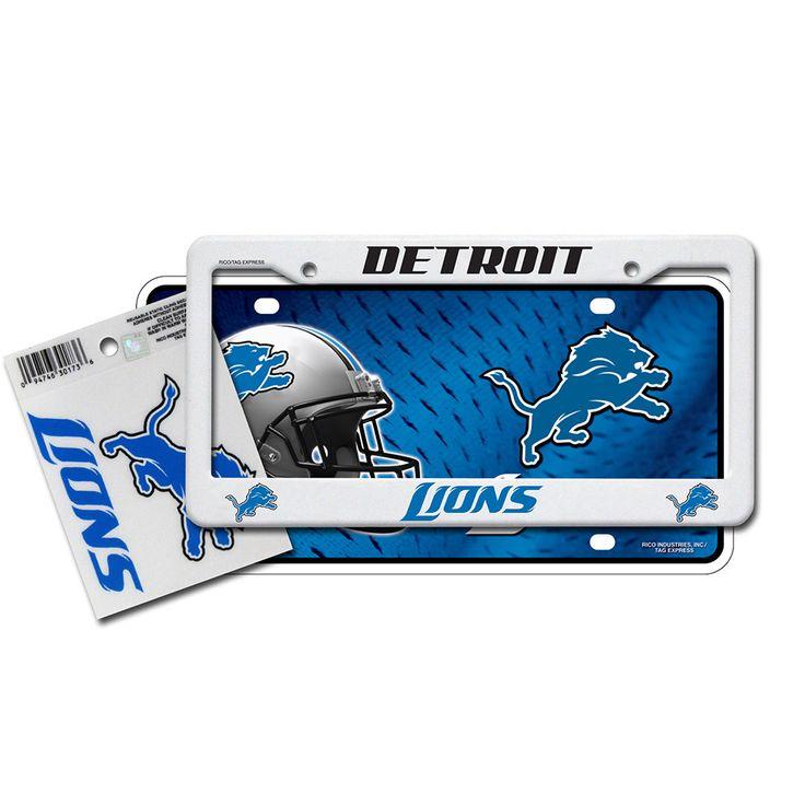 Detroit Lions NFL 3 Piece Auto Value Pack