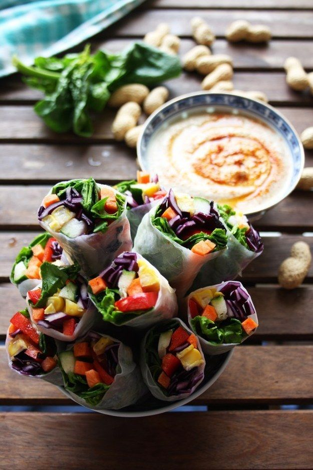Vegan Spring Rolls with Peanut Sauce | Community Post: 18 Quick Meals You Won't Believe Are Vegetarian