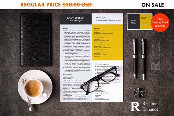 80% OFF SALE Project Manager Resume Template  Resume Design