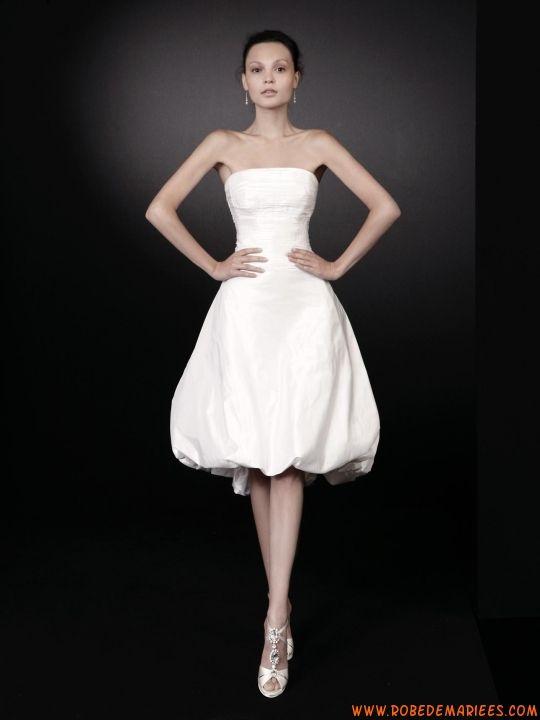 Robe de mariée courte en satin