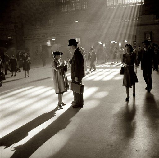 """October 1941. """"Grand Central Terminal, New York City."""" Medium format negative by John Collier. FSA/Office of War Information archive."""