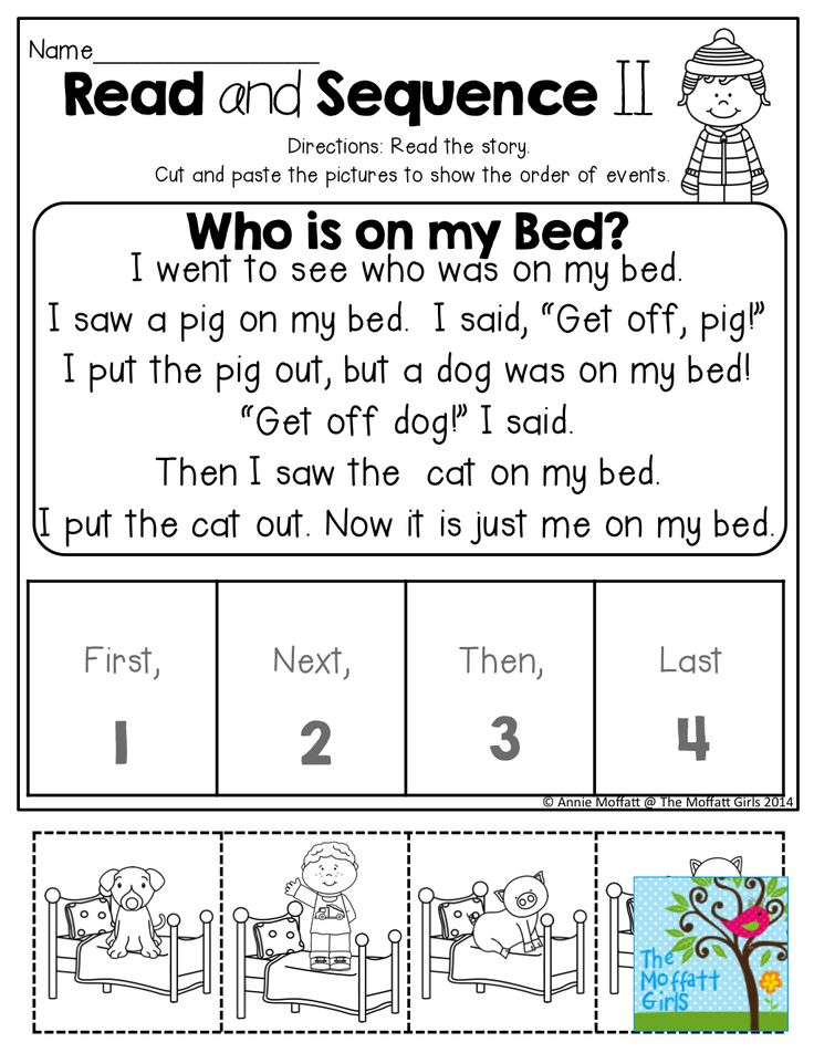 Read and SEQUENCE the simple story! Cut and past the pictures in order.  TONS of fun and effective printables!