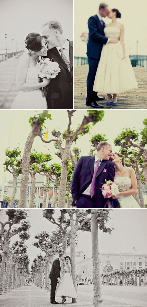 Pretty San Francisco wedding at City Hall sweet smiles, photos by Paco and Betty
