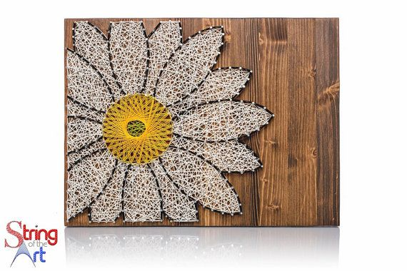 Daisy String Art Kit | Adult DIY Kit Includes All Crafting Supplies | Daisy Wall Art | String Art Patterns | Christmas Gift