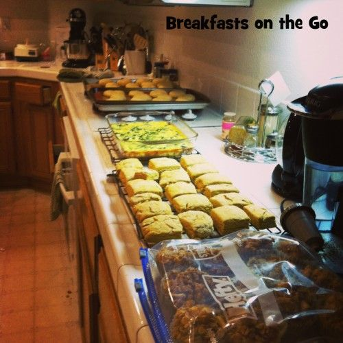 Breakfasts on the go - freezer cooking plan