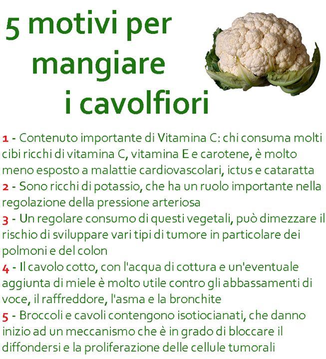 5 motivi per mangiare i cavolfiori