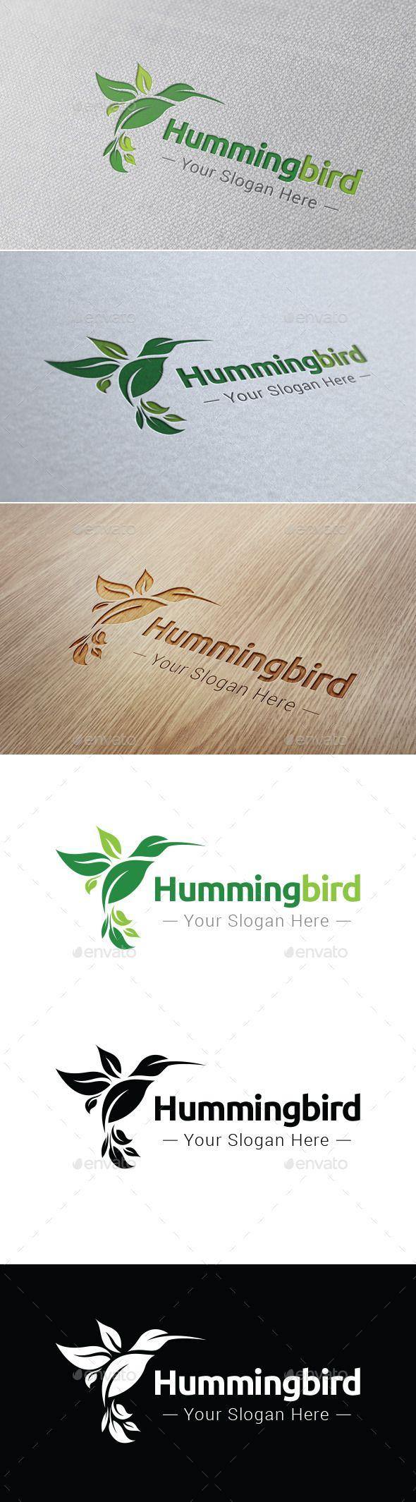 Hummingbird Logo Template - Nature Logo Templates