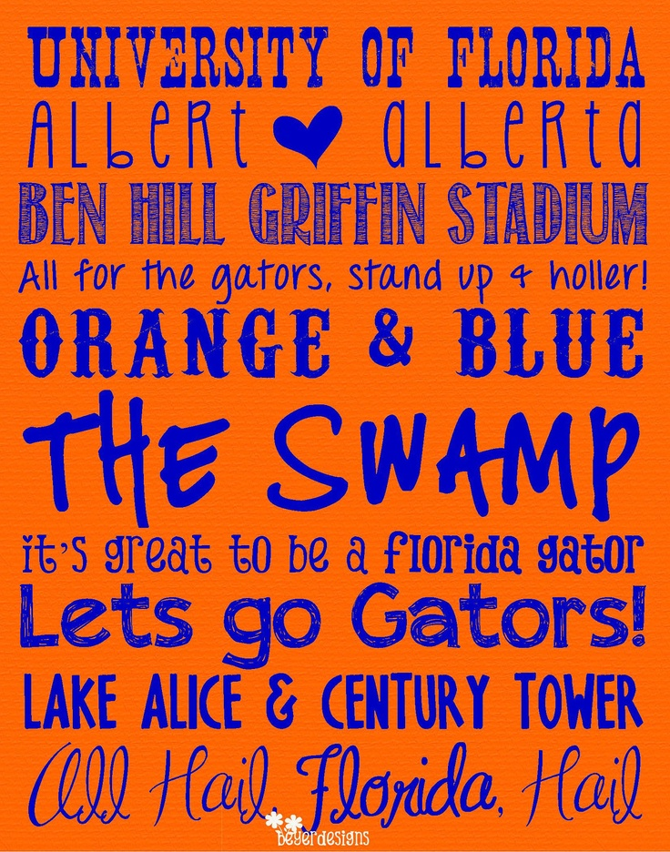 university of florida gators subway art digital printable. Black Bedroom Furniture Sets. Home Design Ideas