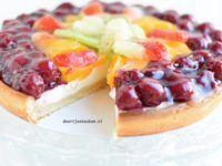 Fruitvlaai met yoghurtbavarois