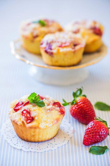 Hotové muffiny můžete ozdobit lístky máty; David Háva