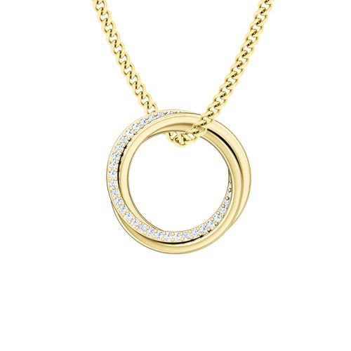 StyleRocks Russian Rings Necklace - Rose Gold Plated jiuA7HpQW