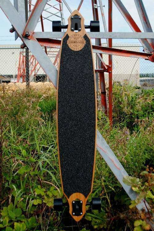 46 in vintage series bamboo longboards deck the cat eye II