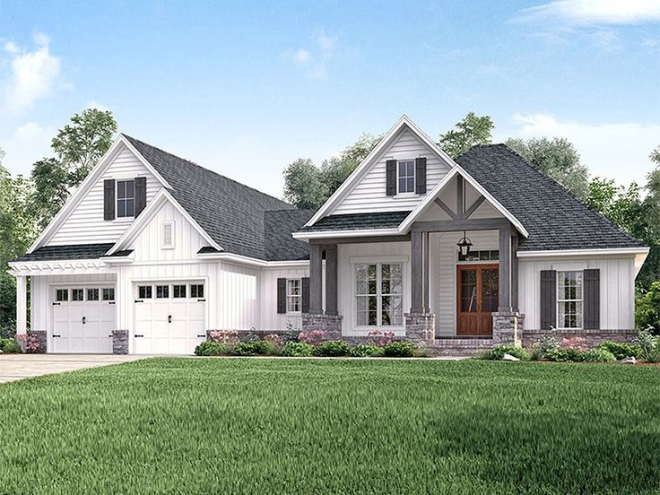 ranch house plan home plan with 2073 square feet and 3 bedrooms from dream home source - Craftsman Ranch Home Exterior