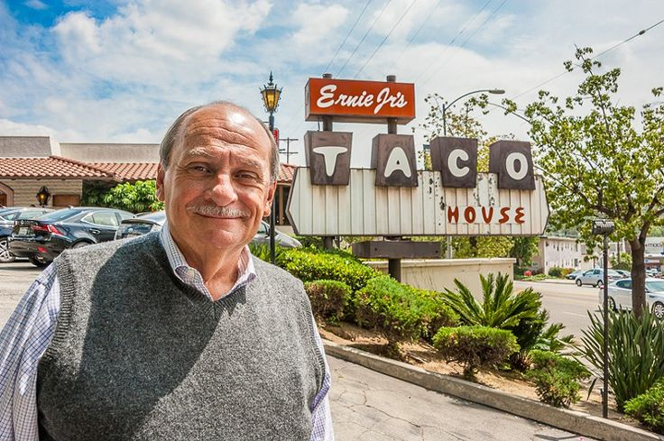 Ernie Cruz in front of Ernie Jr.'s Taco House in Eagle Rock http://www.laweekly.com/restaurants/get-a-taco-before-ernie-jrs-taco-house-closes-for-good-today-4598569