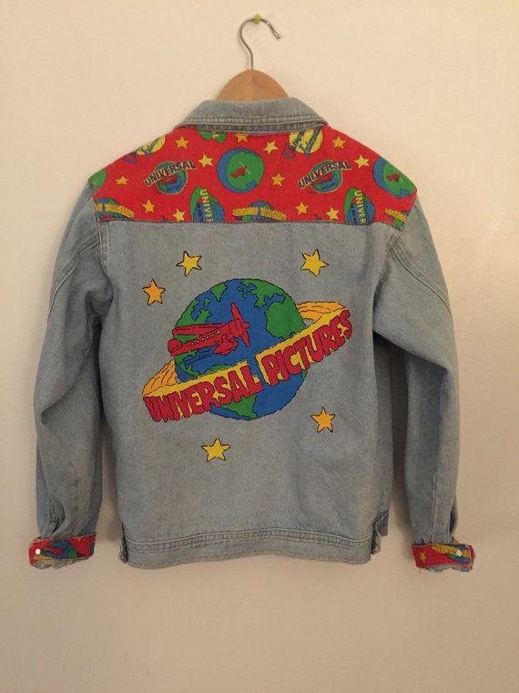 90s universal studios denim jacket by okkkkk on Etsy