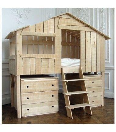 les 53 meilleures images du tableau lit cabane sur pinterest chambre enfant lit cabane et. Black Bedroom Furniture Sets. Home Design Ideas