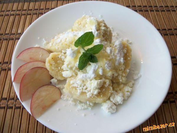 Jablečné knedlíčky jednoduché recept od babičky