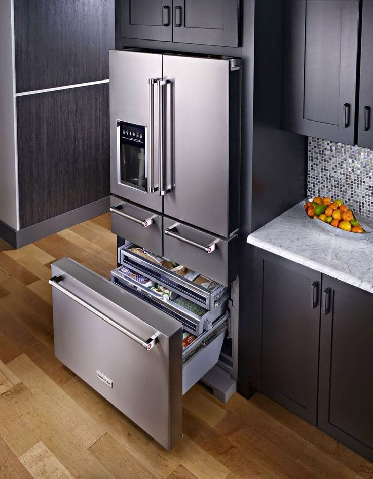 25 best ideas about kitchenaid refrigerator on pinterest stainless steel refrigerator home - Large kitchen appliance ...