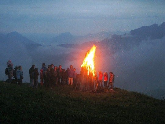 Midsummer in Hohe Salve, Austria... How do peopel celebrate Midsummer's around the world?