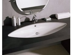 Disegno Ceramica Luna 106:  Umywalka wpuszczana w blat. Under countertop washbasin.