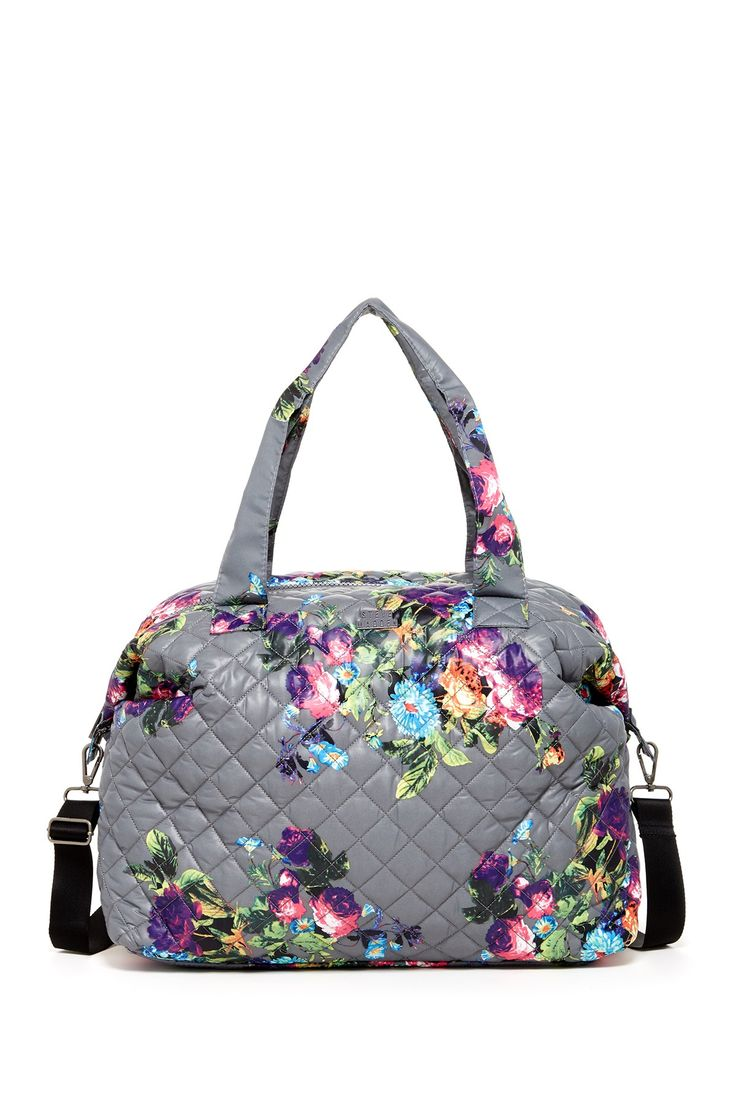 steve madden gray quilt 2s quilted nylon weekend bag lyst