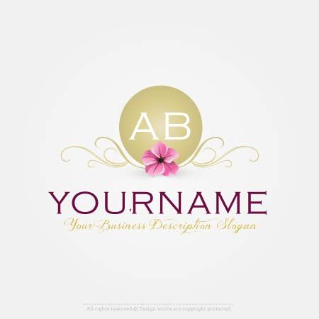 Create Alphabet flower Logo Online with Our Free logo Maker app