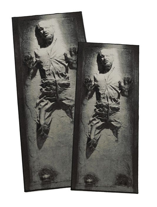 Star Wars Silver Han Solo Trapped in Carbonite Rug - www.wonkshop.com
