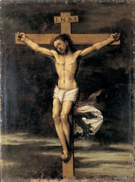 Girolamo Romanino,  Cristo crocifisso, metà del secolo XVI Breno, Camus