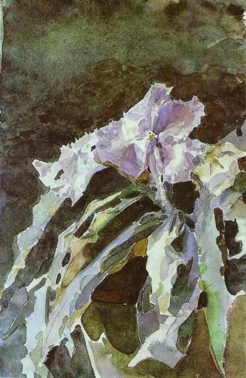 Orchid - Mikhail Vrubel, 1887. Watercolour