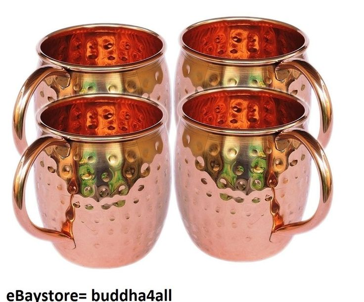 Handcrafted Hammered Pure Solid Copper Mugs 16 Oz Unlined No Nickel Interior #Buddha4all