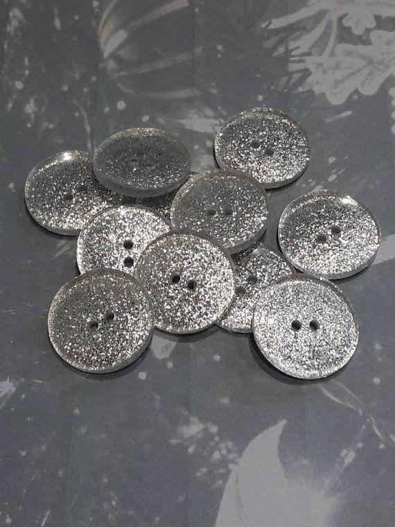 White Round Polyester Shank Button 20mm 32L