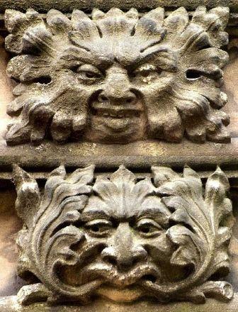 Victorian Green Men in the church at Moseley, West Midlands, England (photos Tina Negus)
