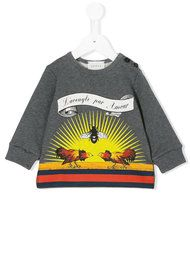 1f7f6191372 Gucci Kids Baby Sweatshirt With Gucci Kitten Print - Farfetch