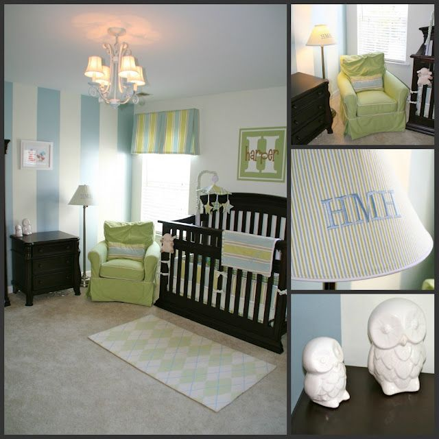 Blue Green Nursery Theme If Baby Is A Boy But No Stripes Painted On The Wall Please Brody James Our Pinterest And