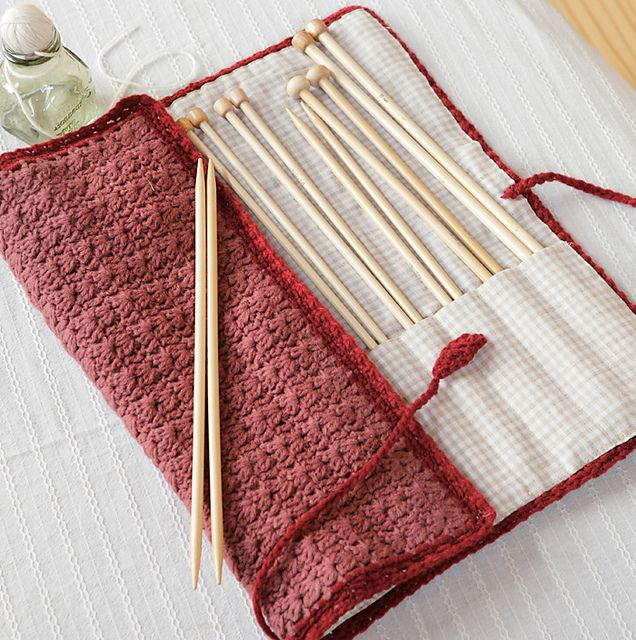 Knitting Needle Roll Pattern : 25+ basta Knitting needle case ideerna pa Pinterest