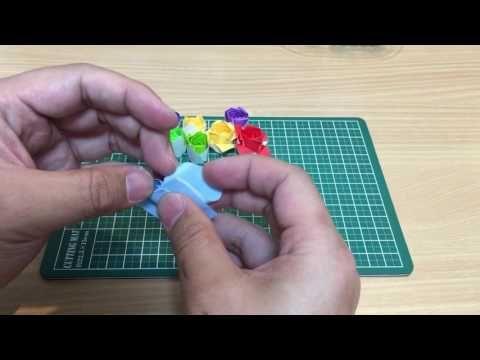 バラの折り紙 折り方 - YouTube