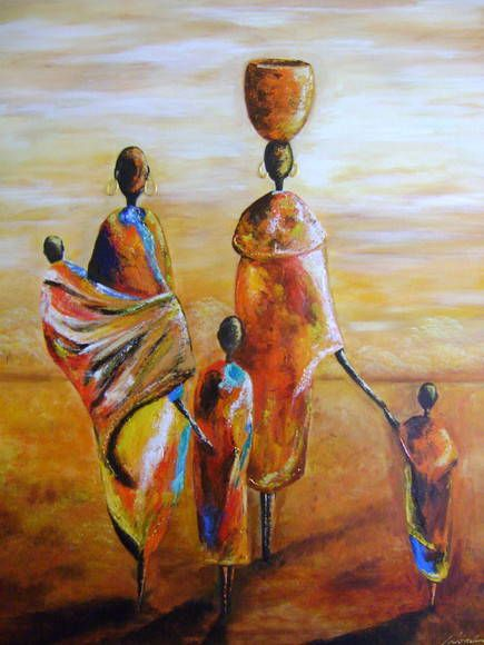 Pinturas de Mulheres Africanas                              …