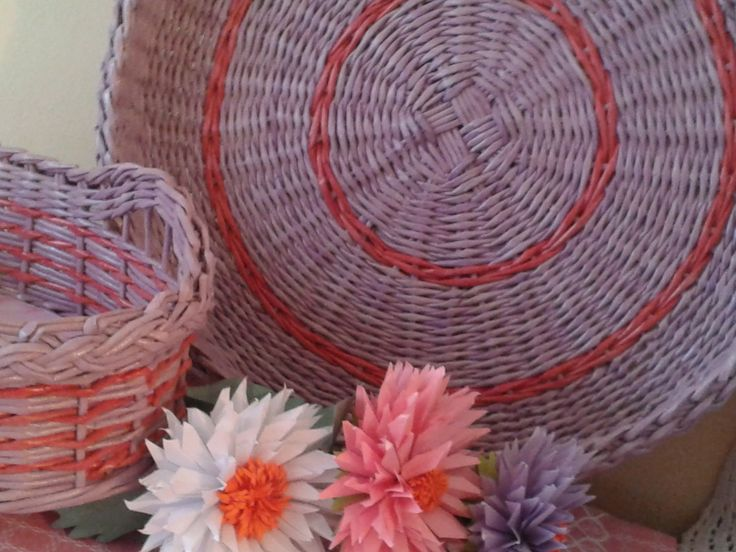 """чайный набор """"Весна идет, весне дорогу..."""". плетение из бумаги, поднос"""