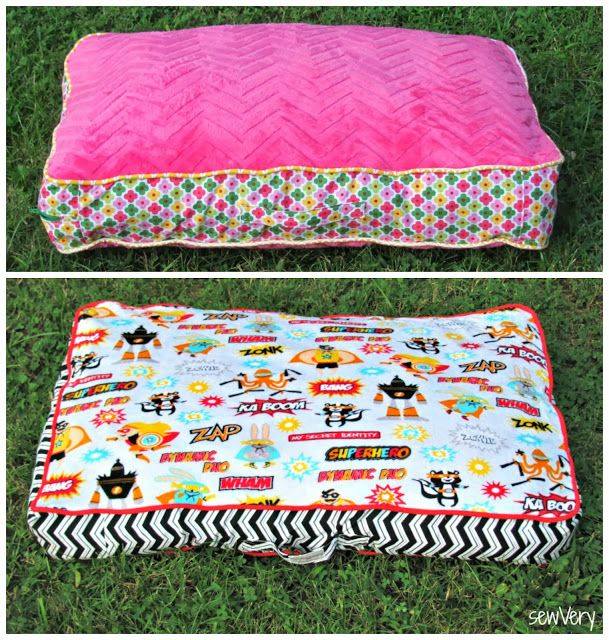 Cuddle Floor Pillow & Matching Blanket Tutorial by sewVery